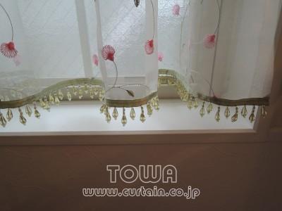 玄関カフェカーテン