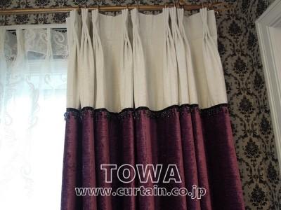 切替とビーズのカーテン