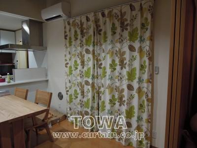 北欧柄のカーテン