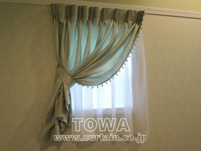 I型トリム付カーテン