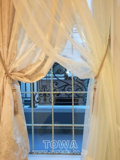 オーガンジーのカーテン