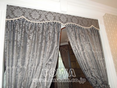 間仕切りのカーテン