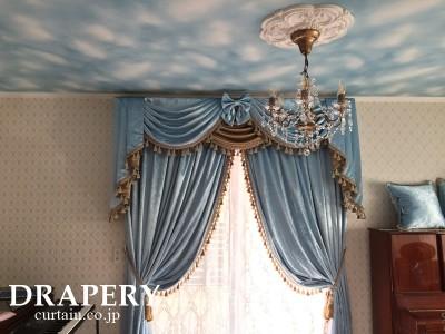 ブルーのカーテン