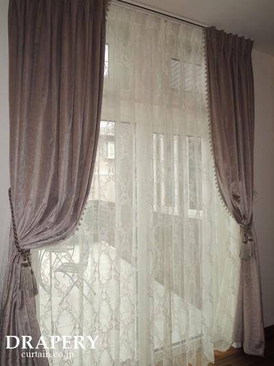 輸入生地で作るカーテン