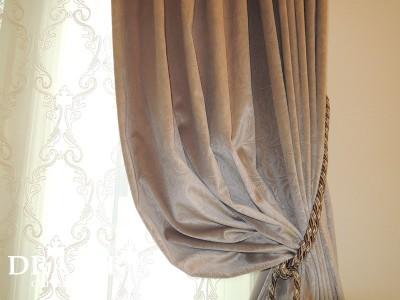 輸入生地のカーテン