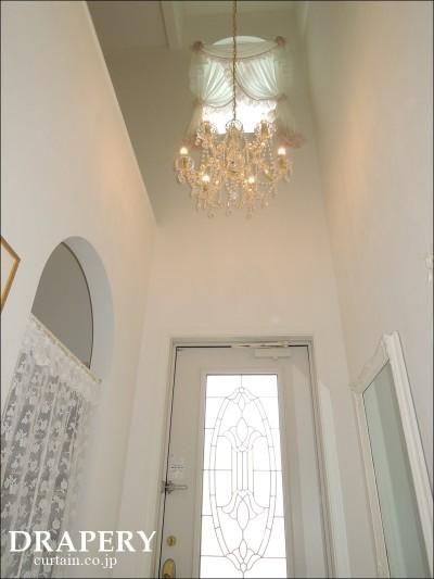 高窓のカーテン