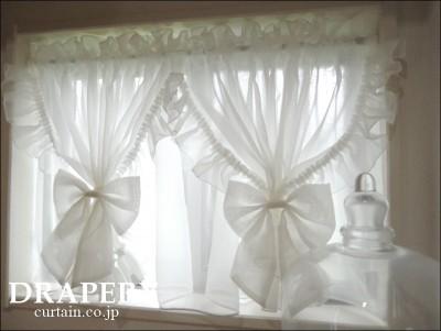 白いカフェカーテン