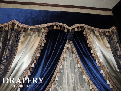 宮殿のようなカーテン