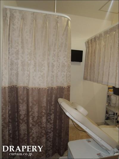 レディースクリニックのカーテン