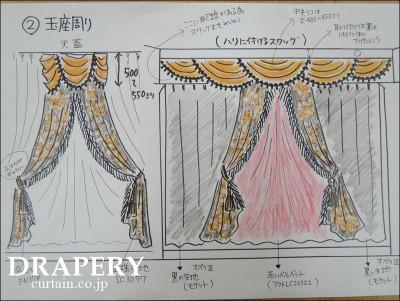 王様のカーテン