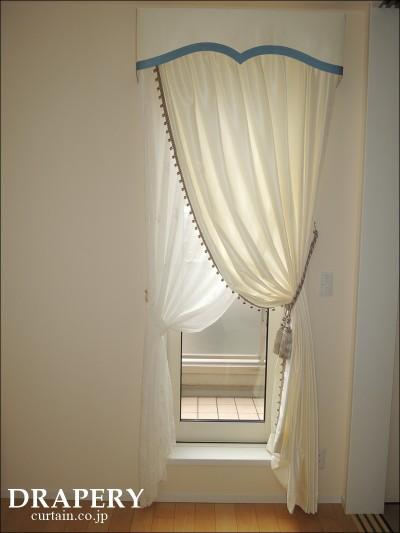 カーテンの上飾り
