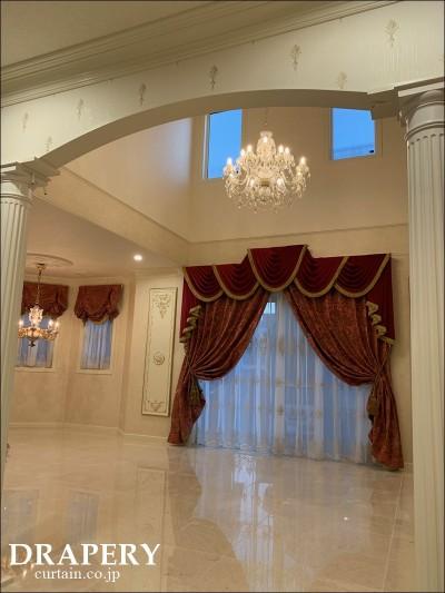 宮殿みたいなカーテン