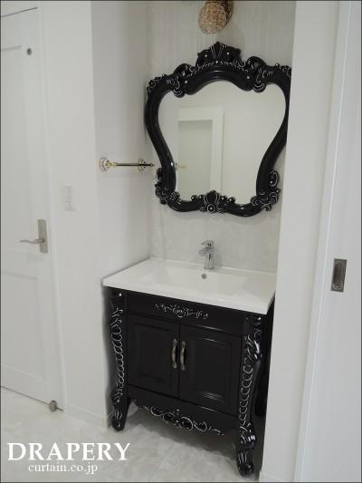 黒い洗面台