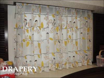 小鳥のカーテン
