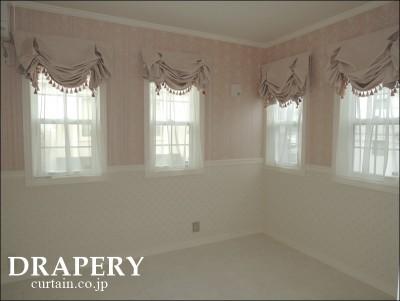 ピンクのバルーンシェード