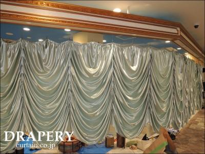 水色のカーテン
